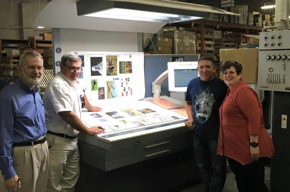 Look at page 1 laid out With John Grunwald, Martell Speigner, Crystal Mead & Bert Barrera at Grunwald Printing
