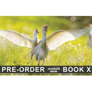Book X announcement card